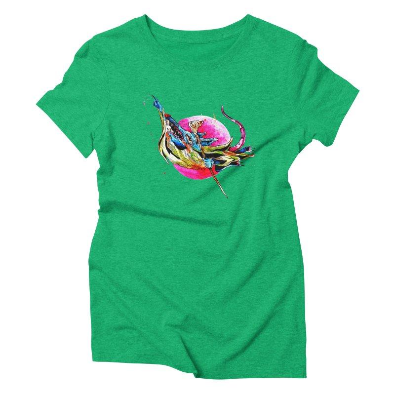 yo! Women's Triblend T-Shirt by okik's Artist Shop