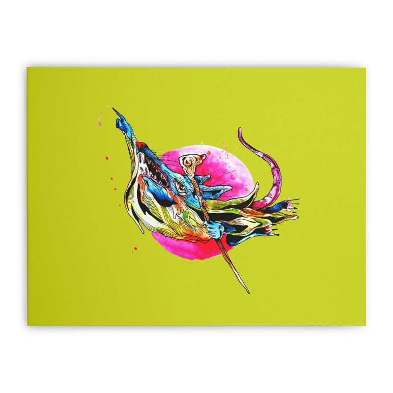 yo! Home Stretched Canvas by okik's Artist Shop