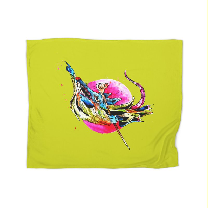 yo! Home Fleece Blanket Blanket by okik's Artist Shop