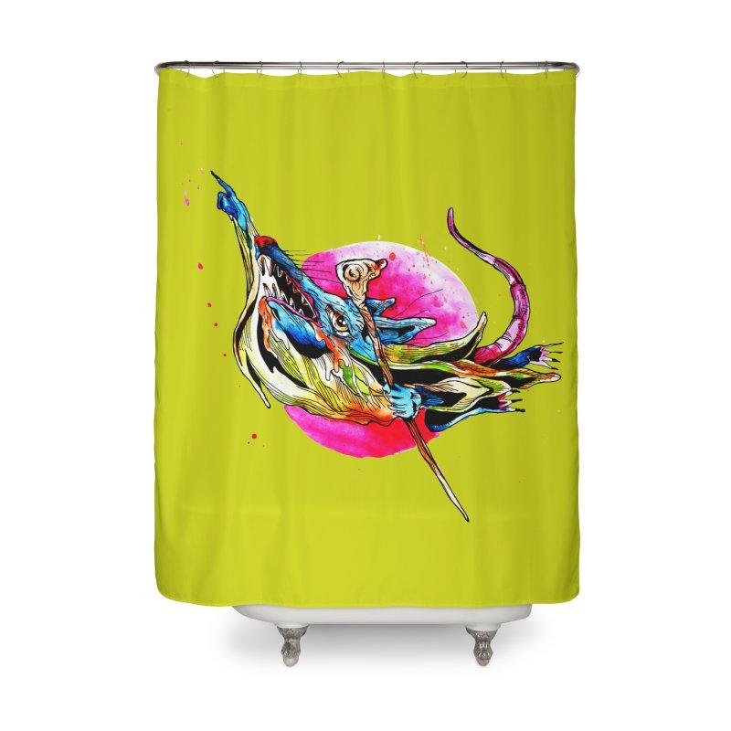 yo! Home Shower Curtain by okik's Artist Shop