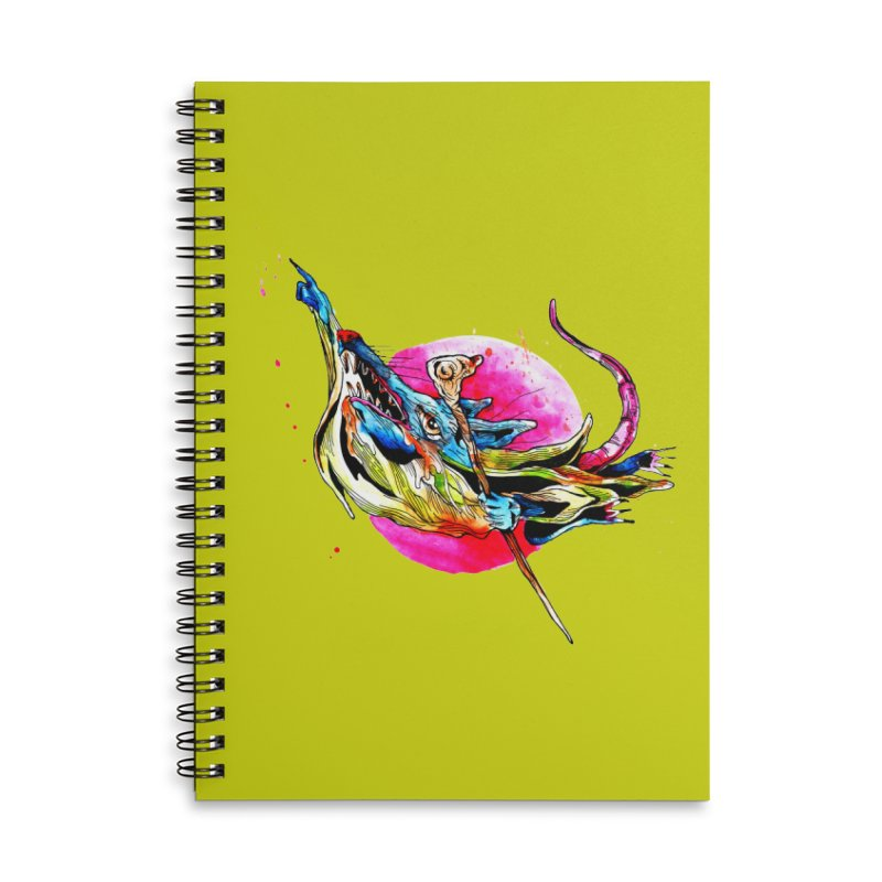 yo! Accessories Lined Spiral Notebook by okik's Artist Shop