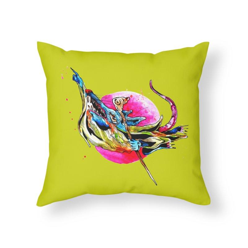 yo! Home Throw Pillow by okik's Artist Shop