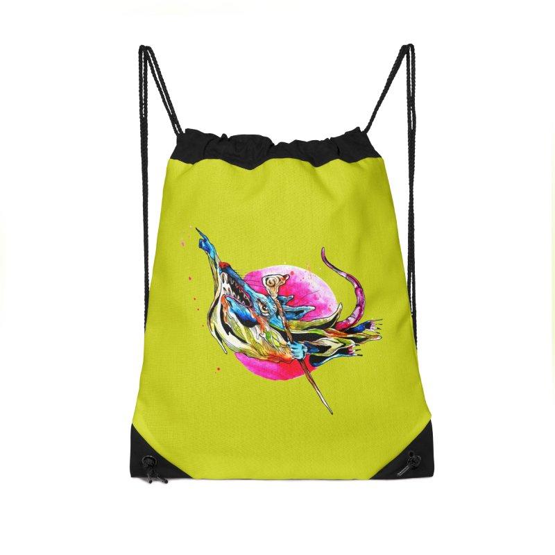 yo! Accessories Drawstring Bag Bag by okik's Artist Shop