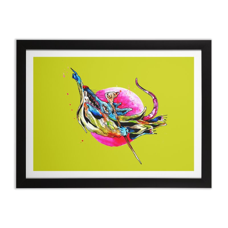 yo! Home Framed Fine Art Print by okik's Artist Shop