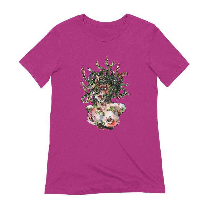 maneater Women's Extra Soft T-Shirt by okik's Artist Shop