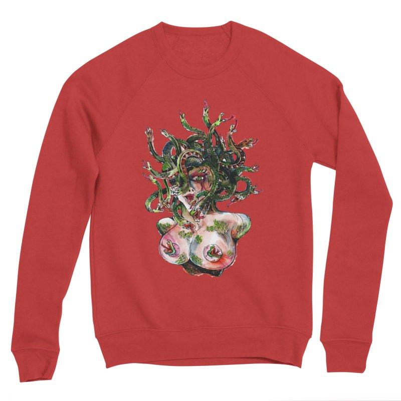 maneater Men's Sponge Fleece Sweatshirt by okik's Artist Shop