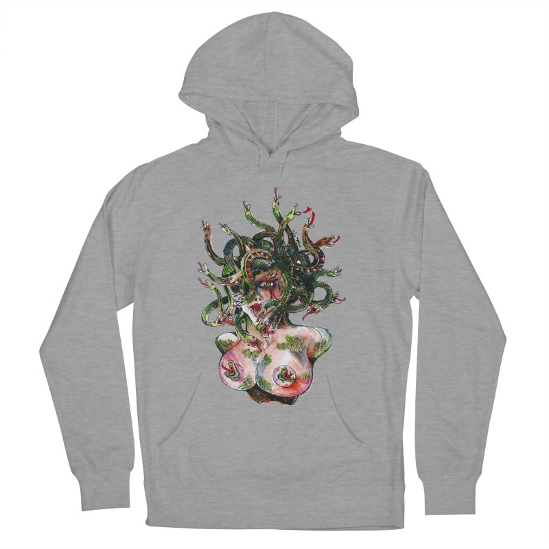 maneater Men's French Terry Pullover Hoody by okik's Artist Shop