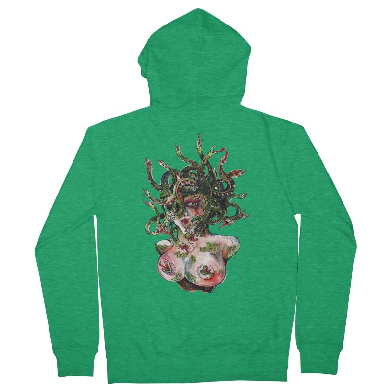 maneater Women's French Terry Zip-Up Hoody by okik's Artist Shop