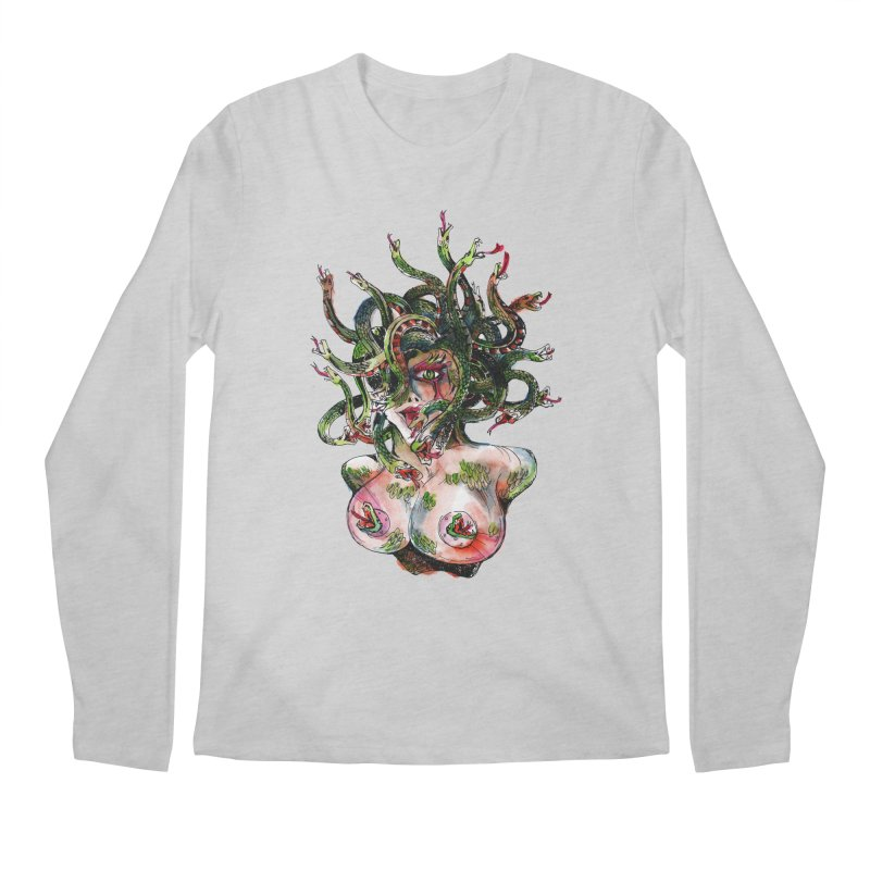 maneater Men's Regular Longsleeve T-Shirt by okik's Artist Shop