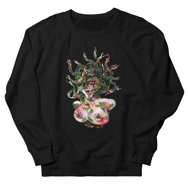 maneater Women's French Terry Sweatshirt by okik's Artist Shop