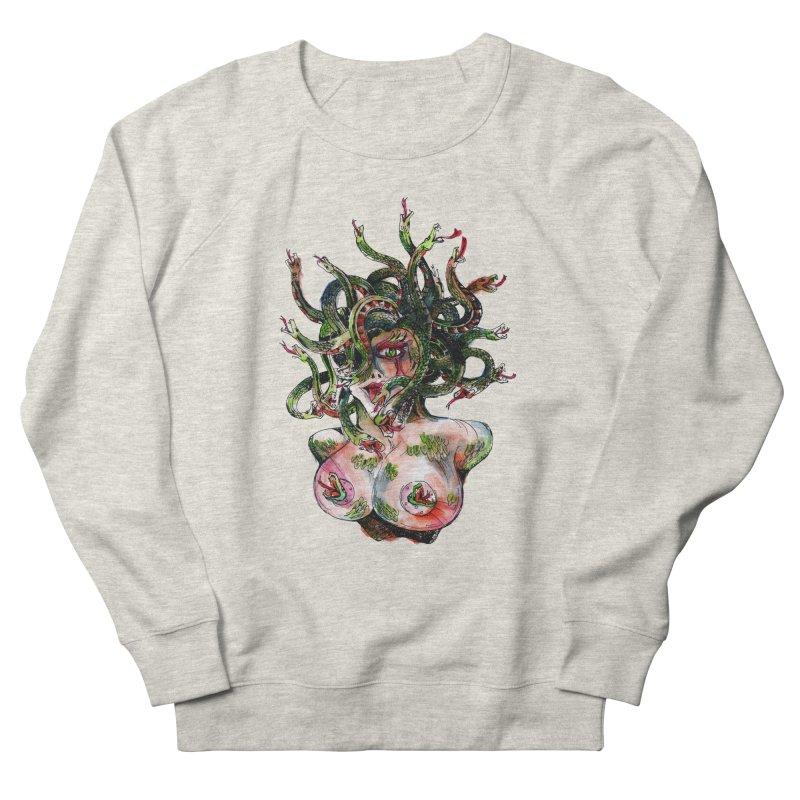 maneater Men's French Terry Sweatshirt by okik's Artist Shop