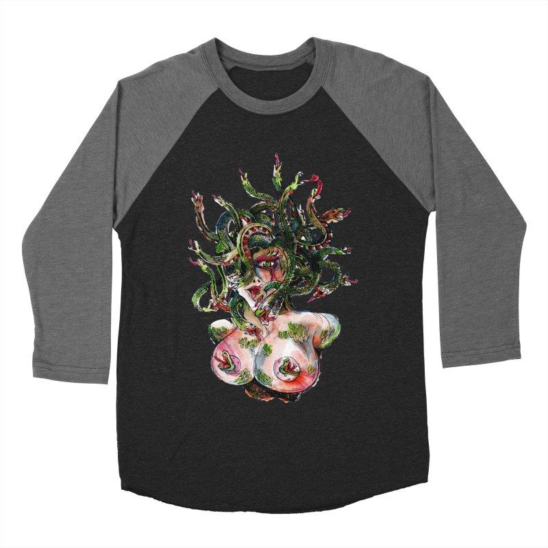 maneater Women's Baseball Triblend Longsleeve T-Shirt by okik's Artist Shop