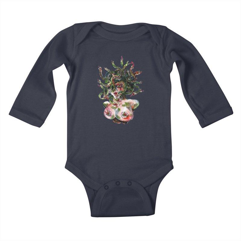 maneater Kids Baby Longsleeve Bodysuit by okik's Artist Shop