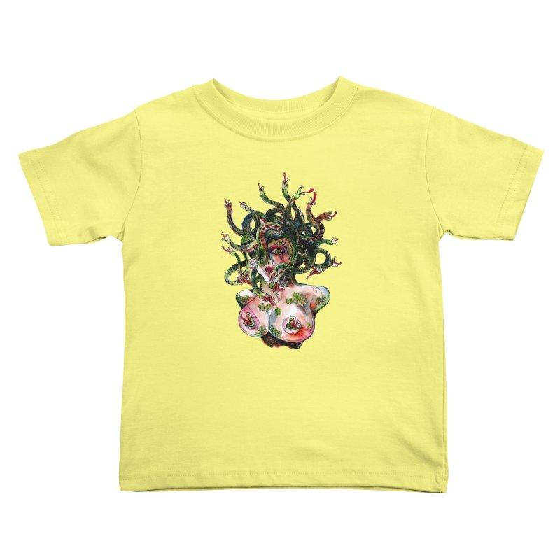 maneater Kids Toddler T-Shirt by okik's Artist Shop