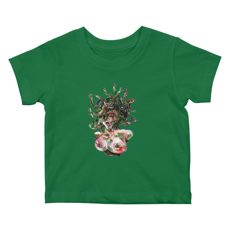 maneater Kids Baby T-Shirt by okik's Artist Shop