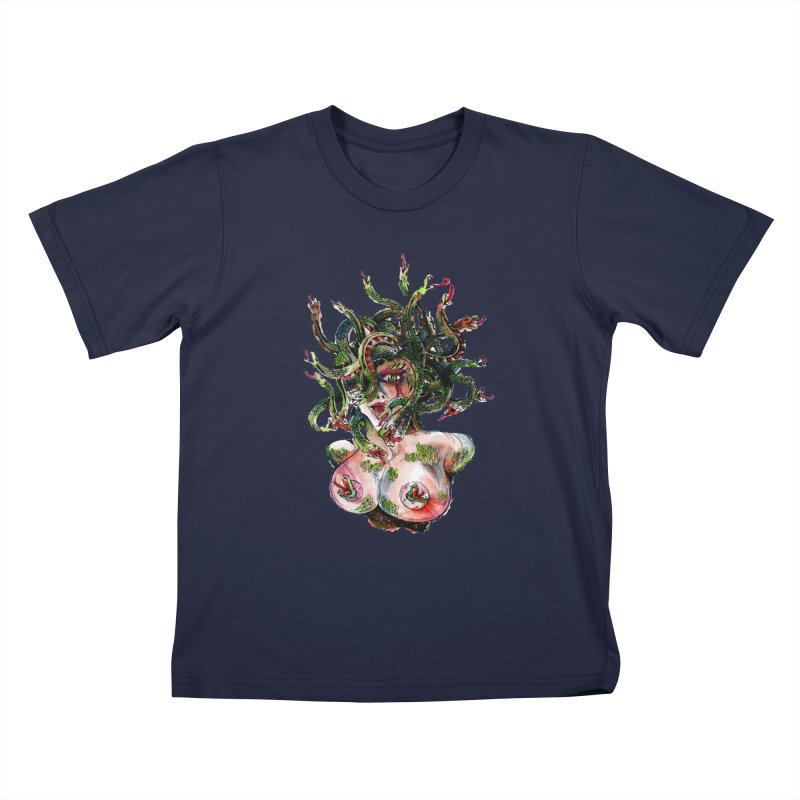 maneater Kids T-Shirt by okik's Artist Shop