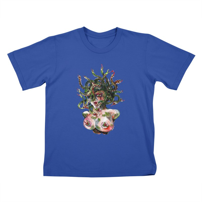 maneater Kids T-Shirt by okik's Artist Shop
