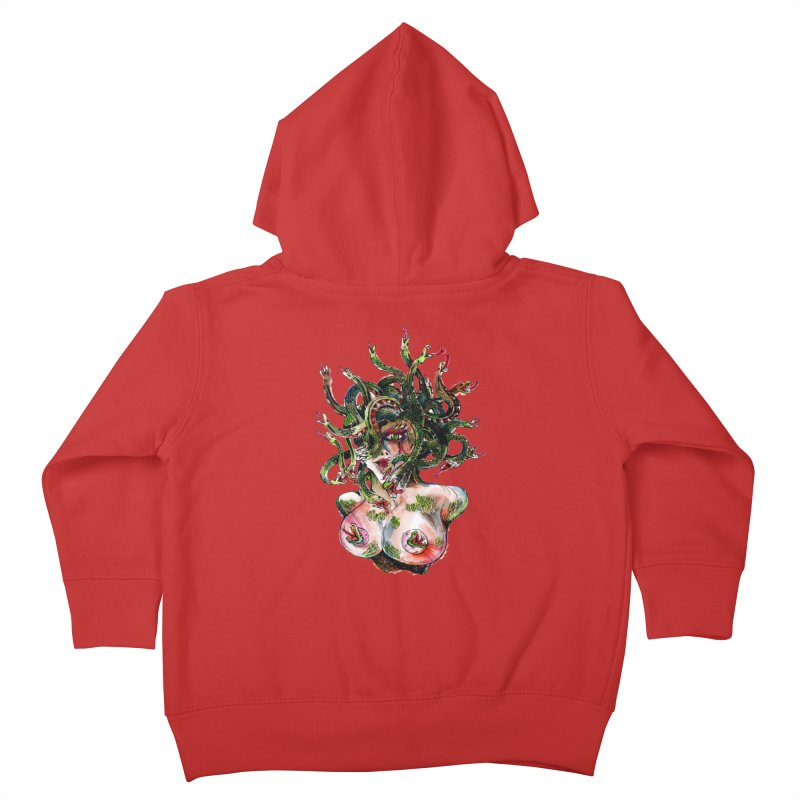 maneater Kids Toddler Zip-Up Hoody by okik's Artist Shop
