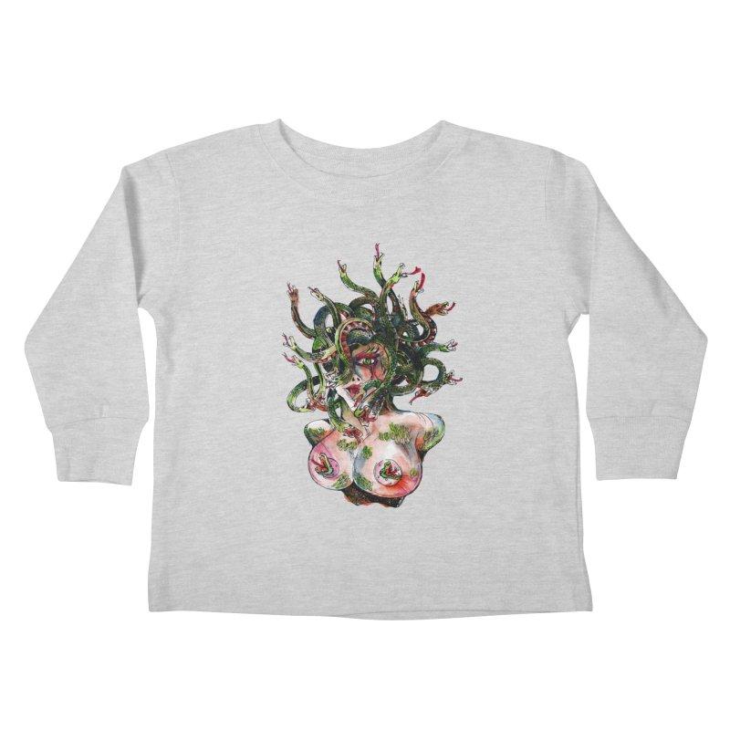 maneater Kids Toddler Longsleeve T-Shirt by okik's Artist Shop