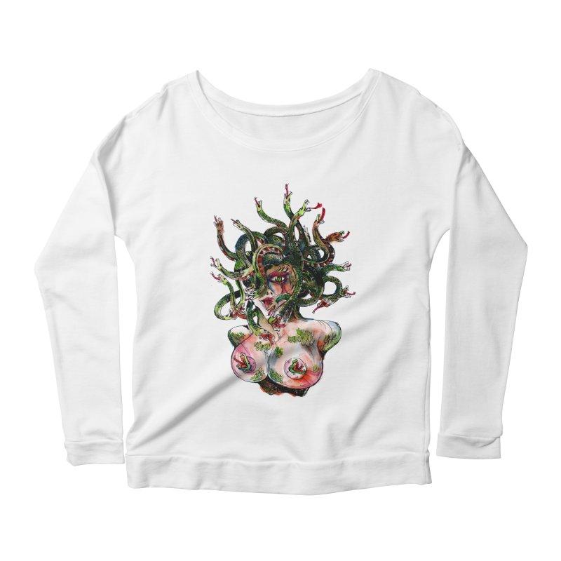 maneater Women's Scoop Neck Longsleeve T-Shirt by okik's Artist Shop