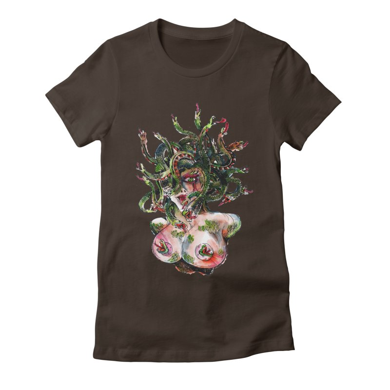maneater Women's Fitted T-Shirt by okik's Artist Shop