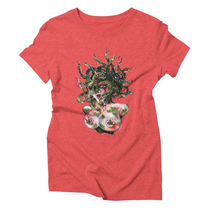maneater Women's Triblend T-Shirt by okik's Artist Shop