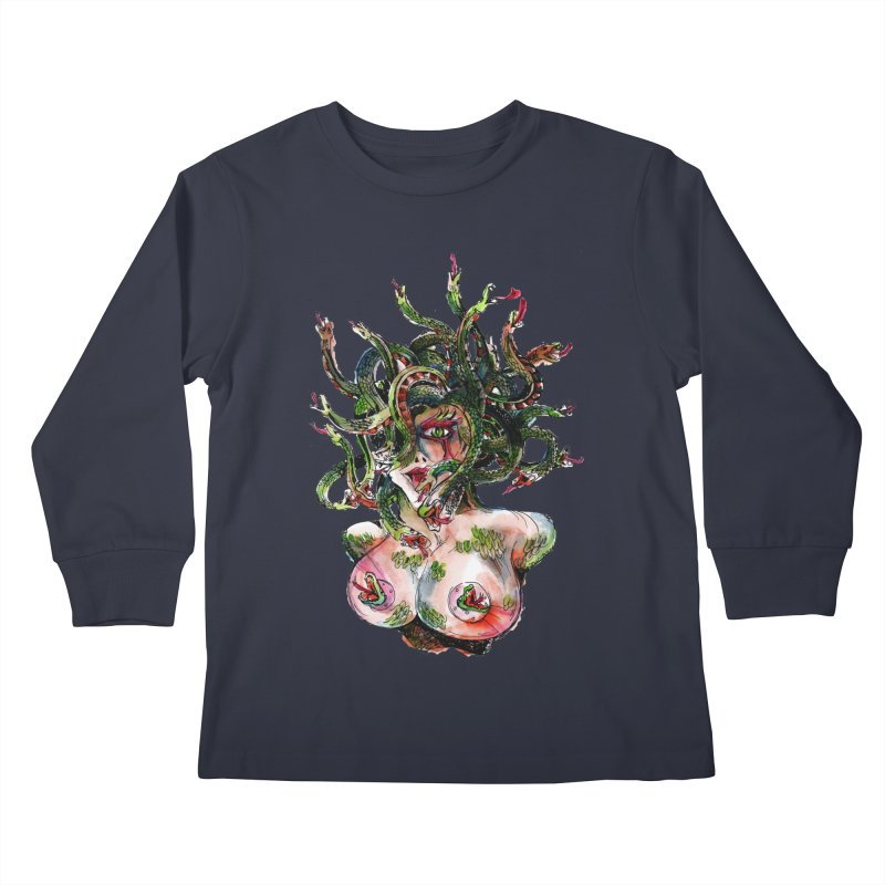 maneater Kids Longsleeve T-Shirt by okik's Artist Shop