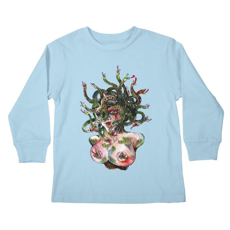 maneater Kids Longsleeve T-Shirt by okik's Artist Shop