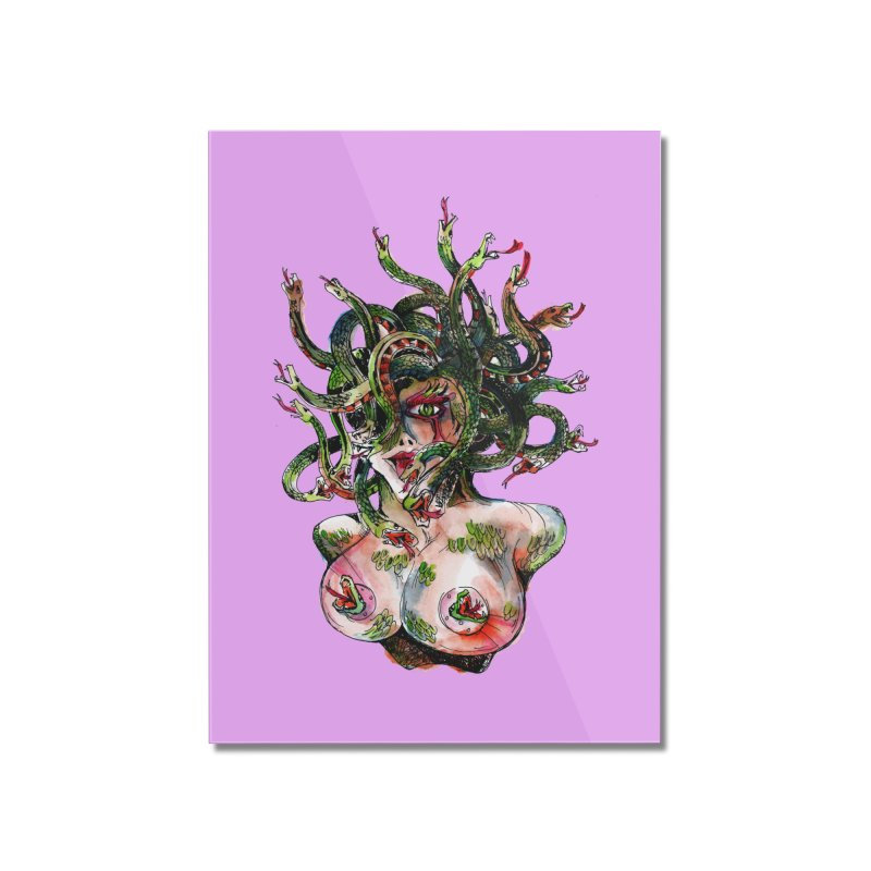 maneater Home Mounted Acrylic Print by okik's Artist Shop
