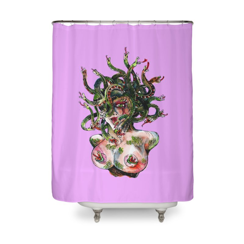 maneater Home Shower Curtain by okik's Artist Shop