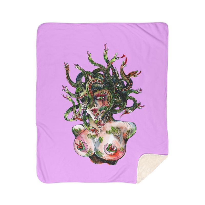 maneater Home Sherpa Blanket Blanket by okik's Artist Shop
