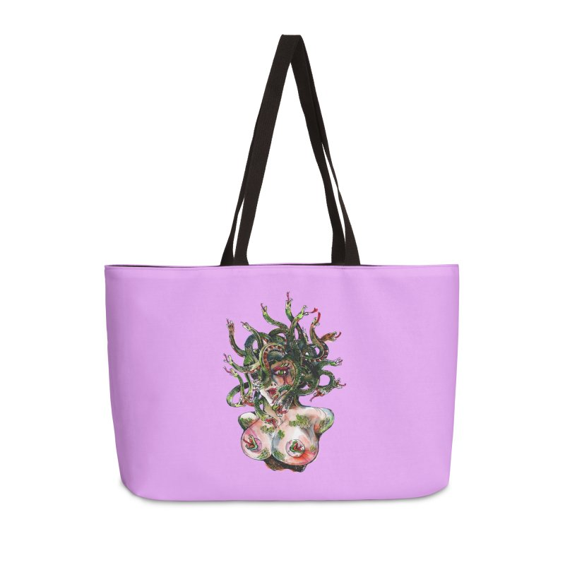 maneater Accessories Weekender Bag Bag by okik's Artist Shop