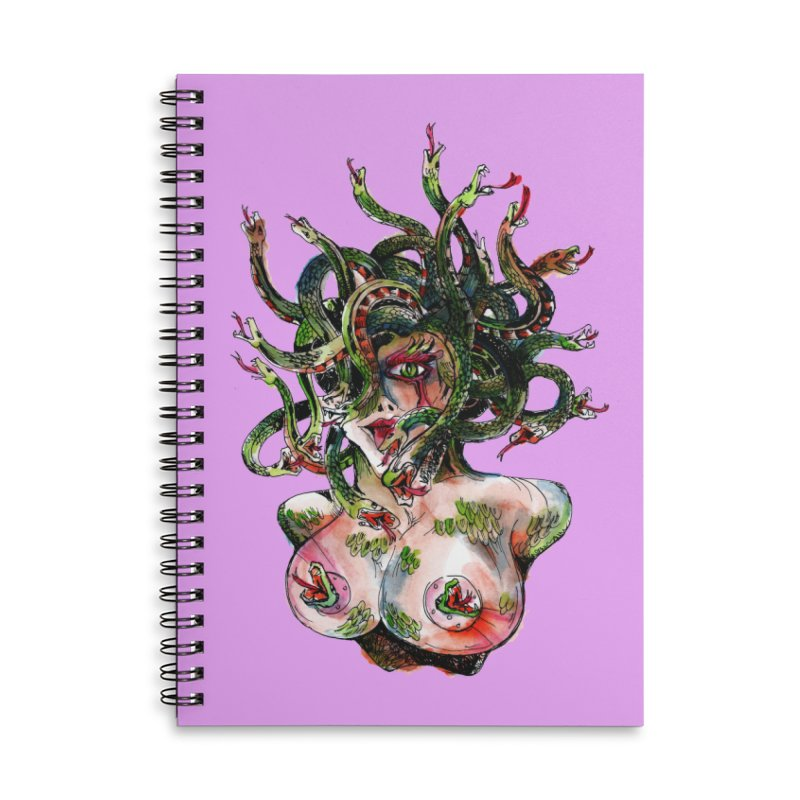 maneater Accessories Lined Spiral Notebook by okik's Artist Shop