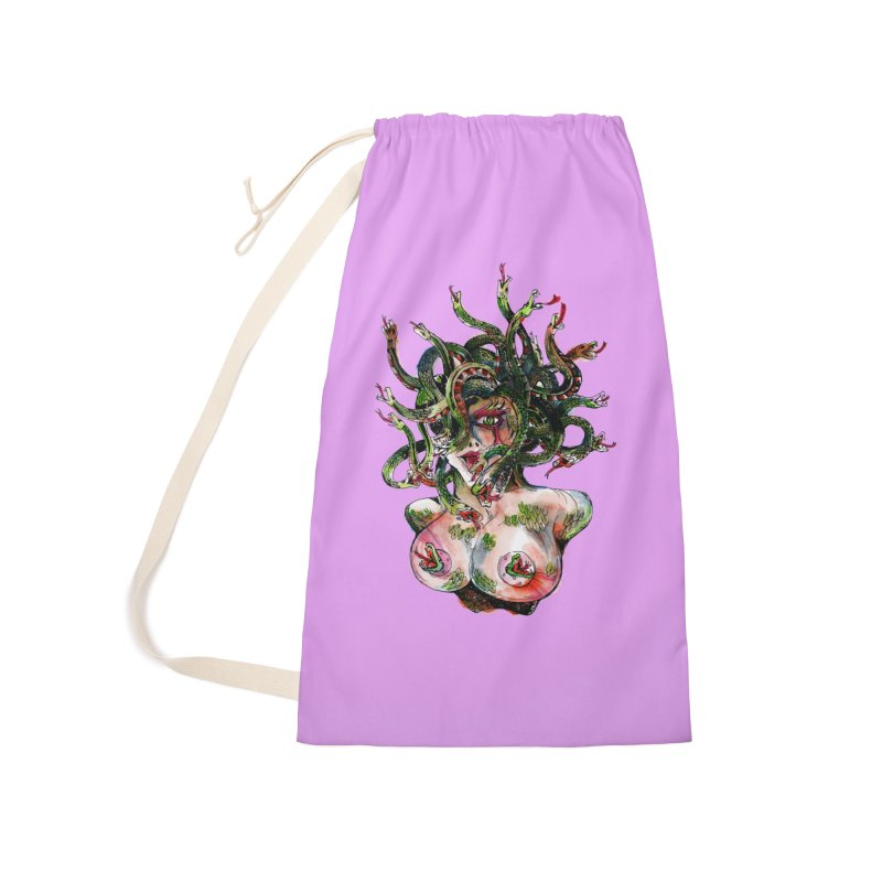maneater Accessories Laundry Bag Bag by okik's Artist Shop