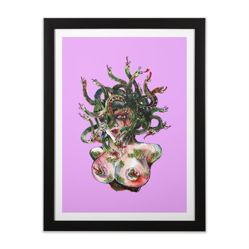 maneater Home Framed Fine Art Print by okik's Artist Shop