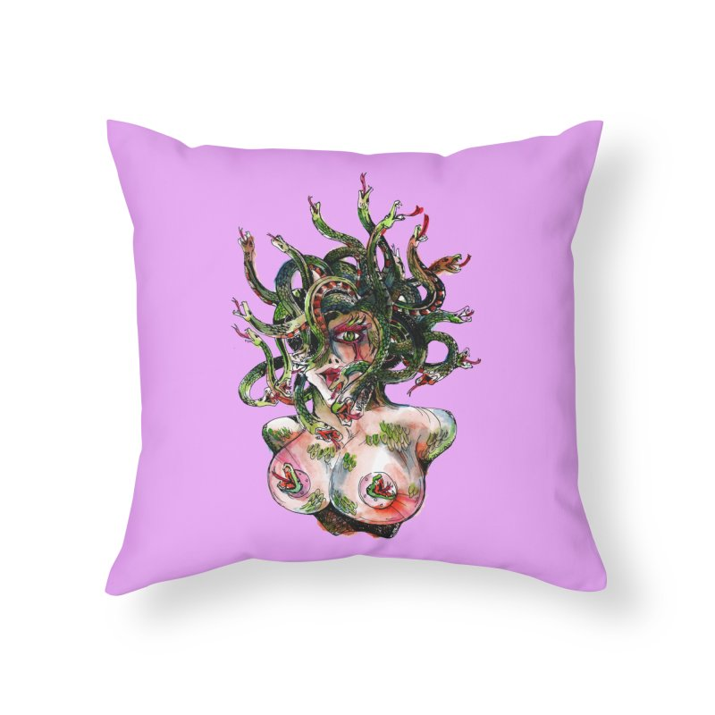 maneater Home Throw Pillow by okik's Artist Shop