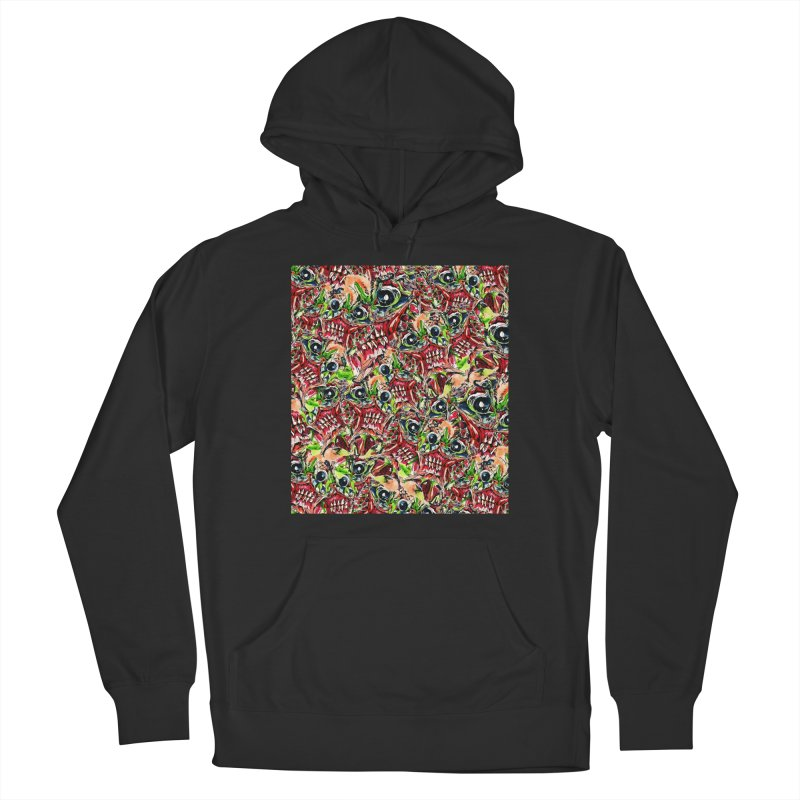 full teeth Men's French Terry Pullover Hoody by okik's Artist Shop