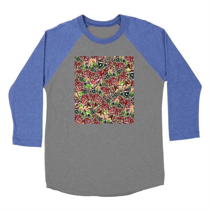 full teeth Men's Baseball Triblend Longsleeve T-Shirt by okik's Artist Shop