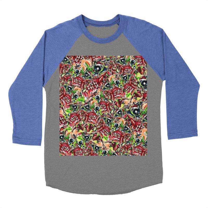 full teeth Women's Baseball Triblend Longsleeve T-Shirt by okik's Artist Shop