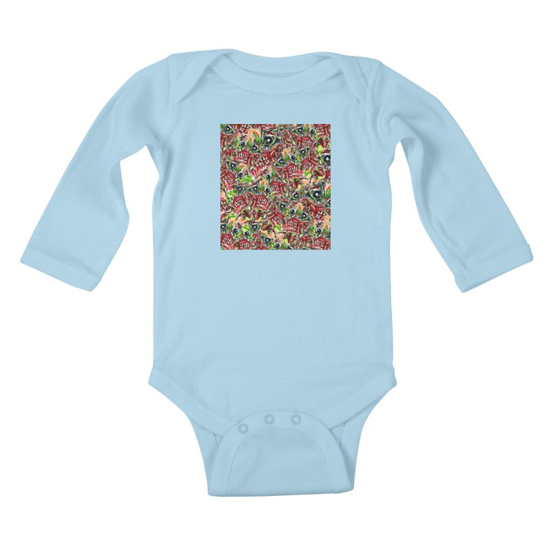 full teeth Kids Baby Longsleeve Bodysuit by okik's Artist Shop