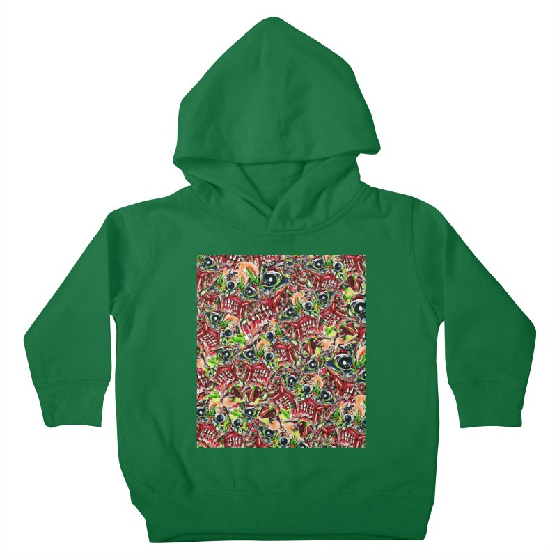 full teeth Kids Toddler Pullover Hoody by okik's Artist Shop