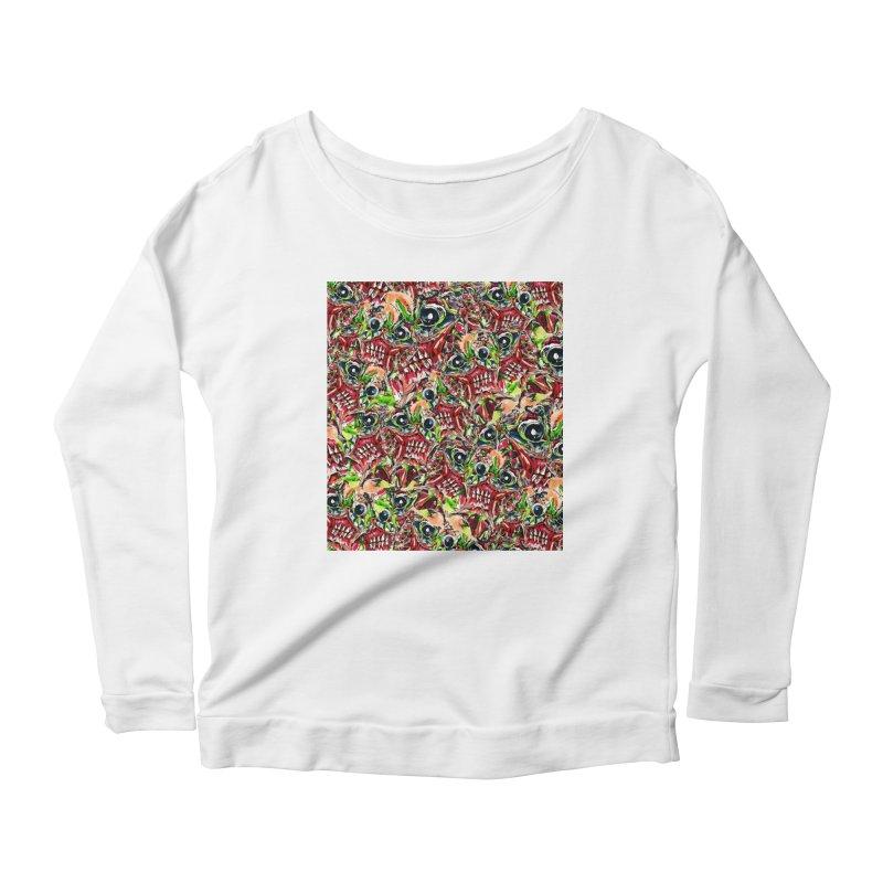 full teeth Women's Scoop Neck Longsleeve T-Shirt by okik's Artist Shop
