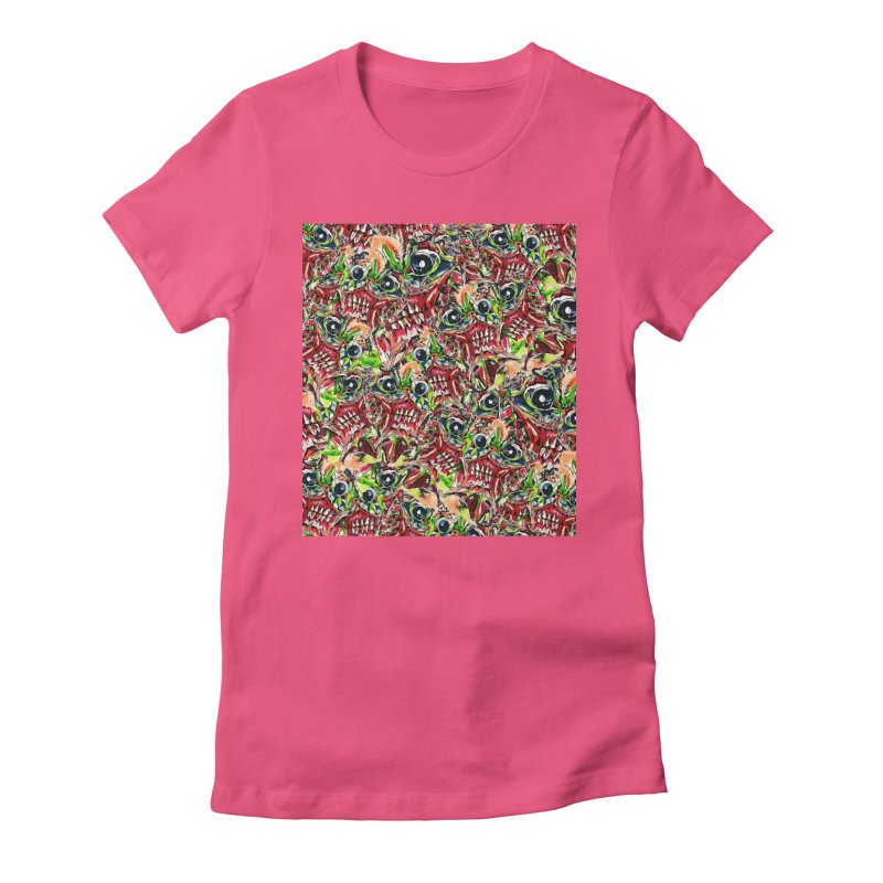 full teeth Women's Fitted T-Shirt by okik's Artist Shop