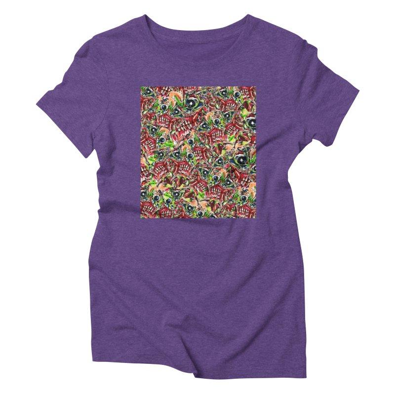 full teeth Women's Triblend T-Shirt by okik's Artist Shop