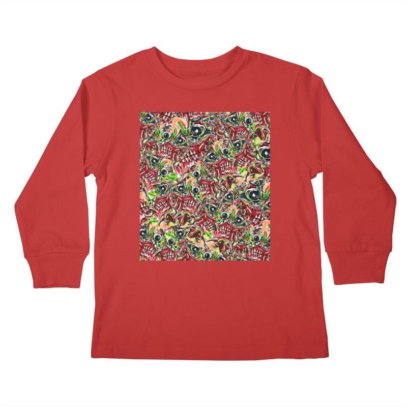 full teeth Kids Longsleeve T-Shirt by okik's Artist Shop
