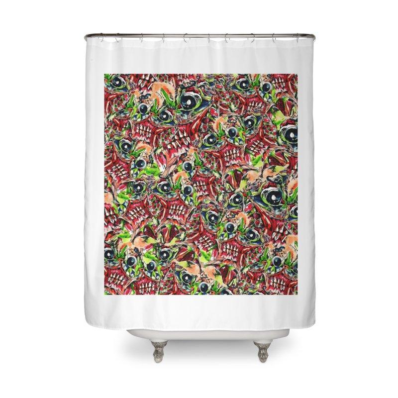 full teeth Home Shower Curtain by okik's Artist Shop