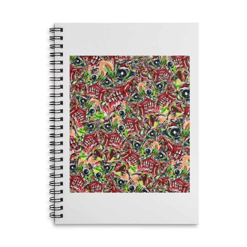 full teeth Accessories Lined Spiral Notebook by okik's Artist Shop