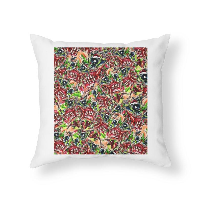 full teeth Home Throw Pillow by okik's Artist Shop