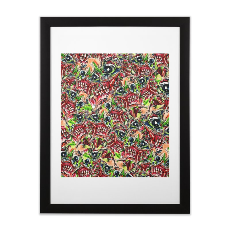 full teeth Home Framed Fine Art Print by okik's Artist Shop