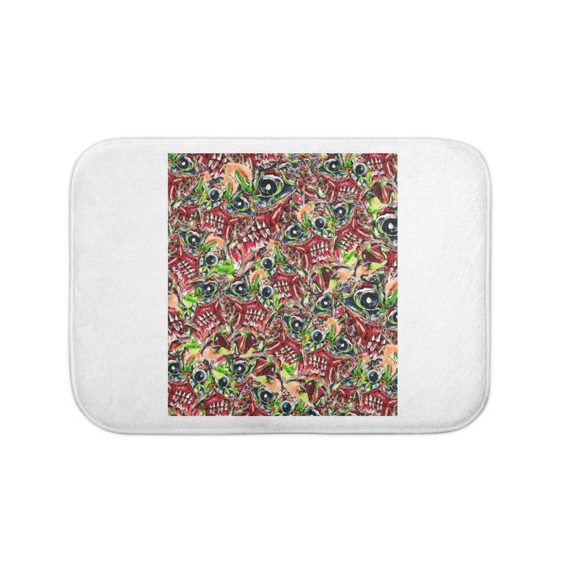full teeth Home Bath Mat by okik's Artist Shop